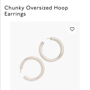 MADEWELL CHUNKY OVERSIZE SILVER HOOPS